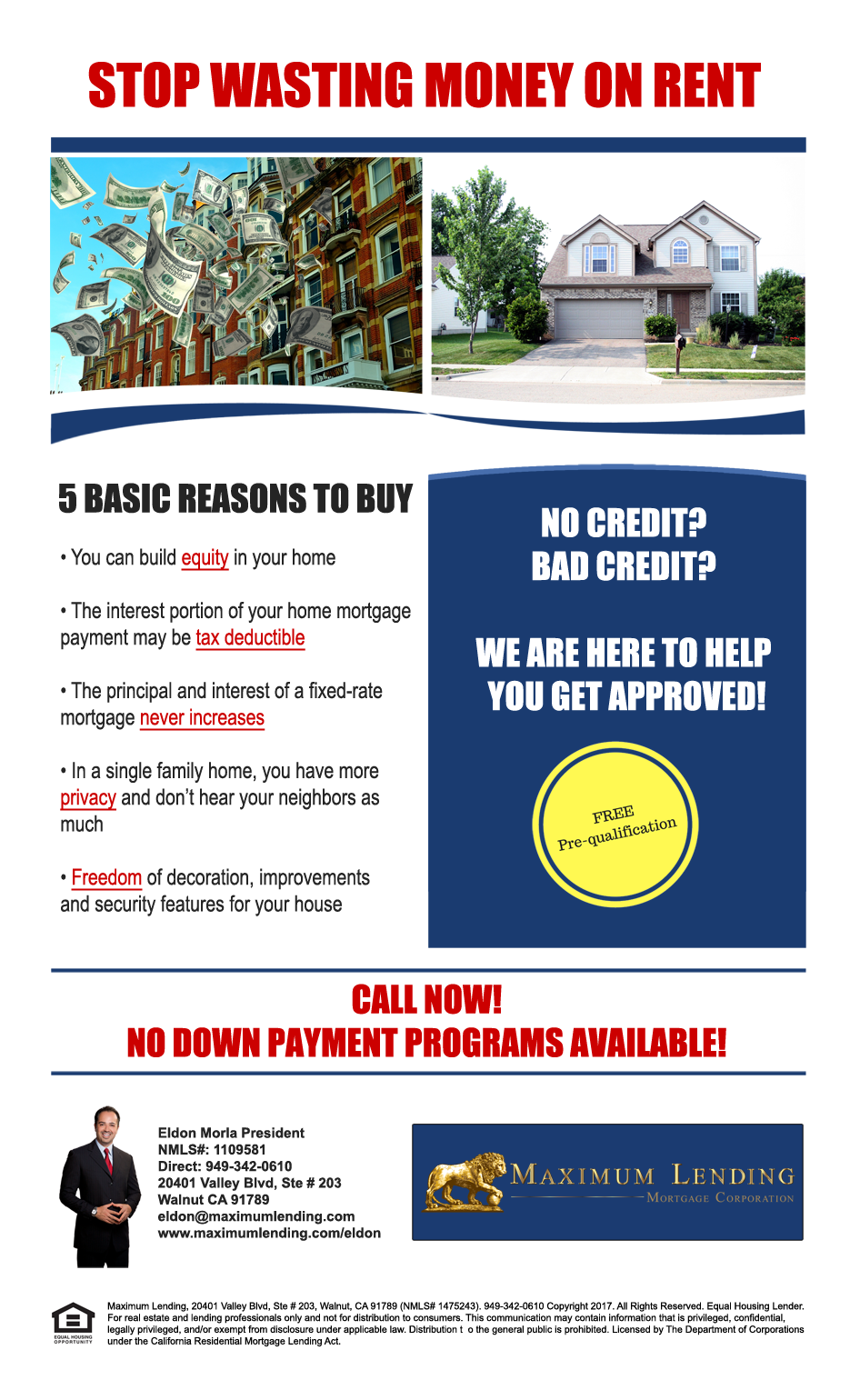 Rent vs Own Flyer - Maximum Lending